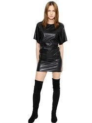 Etoile Isabel Marant Draped Faux Leather Dress