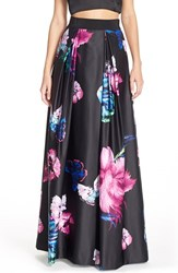 Women's Milly Butterfly Print Satin Ball Skirt