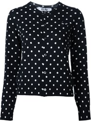 Comme Des Garcons Play Polka Dot Cardigan Black