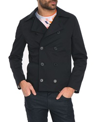 Billtornade Malte Navy Cotton Pea Jacket