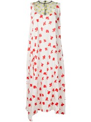 Toga Abstract Print Dress White