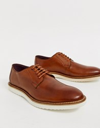 Lambretta Lace Up Leather Shoe With Chunky Sole Brown