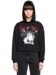 Mcq By Alexander Mcqueen Fear Nothing Print Cotton Sweatshirt