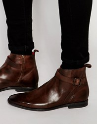 Base London Albert Leather Jodphur Boots Brown