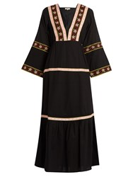Daft Istanbul Embroidered Cotton Dress Black Multi