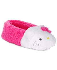 Hello Kitty Faux Sherpa Slippers Pink