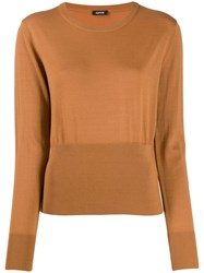Aspesi Fine Knit Jumper Brown