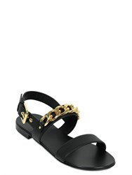 Giuseppe Zanotti Leather Sandals With Metal Chain Detail