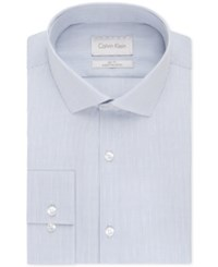 Calvin Klein Platinum Slim Fit Empire Blue Check Dress Shirt