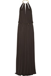 Emilio Pucci Backless Satin Jersey Gown