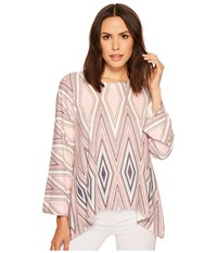 Nally And Millie Diamond Printed Top Multi Clothing