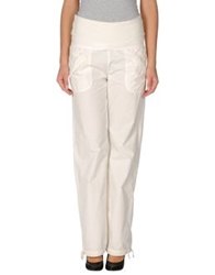 E Go' Sonia De Nisco Casual Pants White