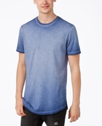 American Rag Men's Ombre Washed Elongated T Shirt Only At Macy's Asphalt Blue