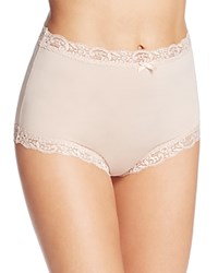 Fine Lines Microfiber Scallop Lace Full Brief Mb061 Bare