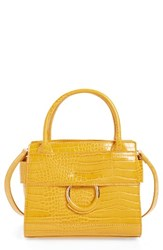 Sam Edelman Mini Chiara Faux Leather Satchel Yellow Sunset Yellow