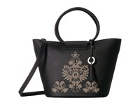 Badgley Mischka Cage Shopper Black Handbags