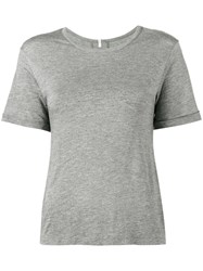 Lot 78 Lot78 Classic T Shirt Women Nylon Micromodal Cashmere M Grey