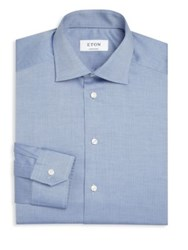 Eton Of Sweden Herringbone Dress Shirt Blue