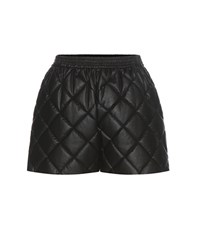 Stella Mccartney Cesira Quilted Faux Leather Shorts Black