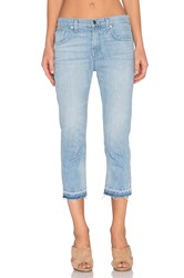 7 For All Mankind Cropped Relaxed Skinny Cool Cloudy Blue