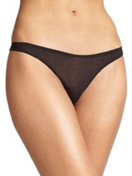 Skin Organic Pima Cotton Thong Natural White Black