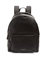Burberry Abbeydale Grained Leather Backpack Black