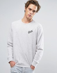 Brixton Reggie Long Sleeve T Shirt With Small Logo Grey