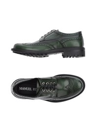 Manuel Ritz Lace Up Shoes Green