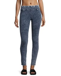 Marc New York Washed Denim Leggings Navy