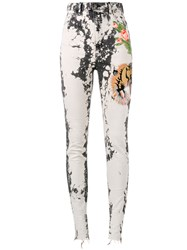 Gucci Embroidered Skinny Jeans Black
