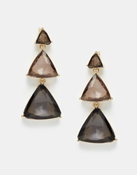 Paper Dolls Triangle Drop Tier Earrings Multi