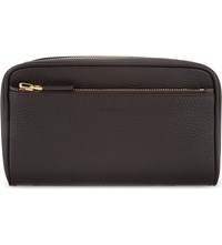 Tom Ford Single Zip Leather Washbag Brown