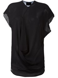 Lost And Found Ria Dunn Draped Blouse Black
