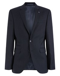 Jaeger Men's Slim Fine Pick Weave Jacket Charcoal