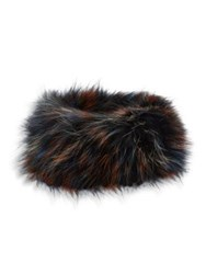 Adrienne Landau Fox Fur Headband Bright Multicolor