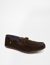 Firetrap Suede Driving Shoes Brown