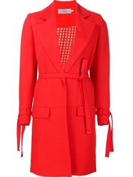 Preen By Thornton Bregazzi Belted Coat Red