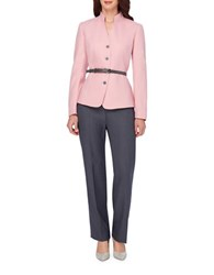 Tahari By Arthur S. Levine Petite Belted Jacket And Pant Suit Primrose