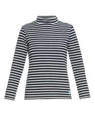 Orcival Funnel Neck Striped Wool Sweater
