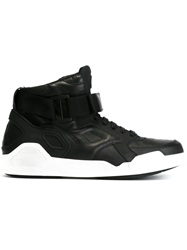 Marcelo Burlon County Of Milan Velcro Hi Top Sneakers Black