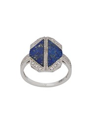 V Jewellery Lapis Ring Silver