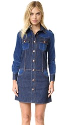 See By Chloe Denim Shirtdress Washed Indigo
