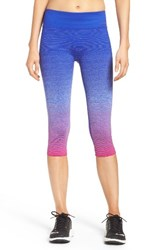 Brooks Women's 'Streaker' Capri Leggings Petal Cobalt
