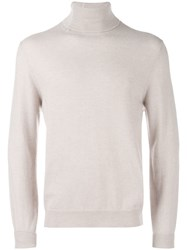 Mauro Grifoni Turtleneck Jumper Nude And Neutrals