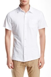Spenglish Short Sleeve Snap Button Shirt White