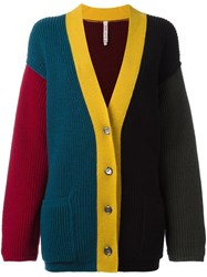Antonio Marras Colour Block V Neck Cardigan