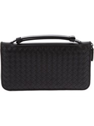 Bottega Veneta Intrecciato Weave Purse Black