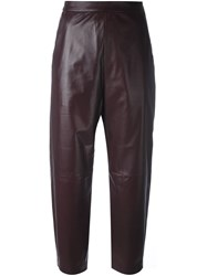 Neil Barrett Cropped Trousers Pink And Purple