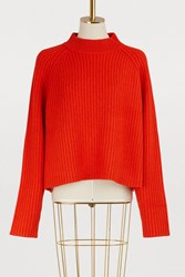Proenza Schouler Wool And Cashmere Sweater 00847 Fiery Red