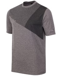 Greg Norman For Tasso Elba Men's Geometric Print T Shirt Medium Heather Grey